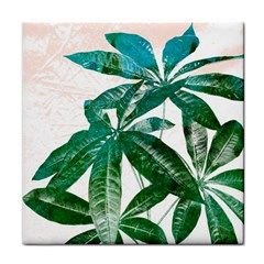 Pachira Leaves  Face Towel by DanaeStudio