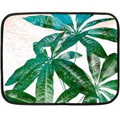 Pachira Leaves  Double Sided Fleece Blanket (mini)  by DanaeStudio