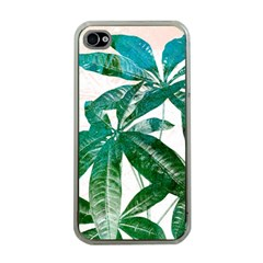 Pachira Leaves  Apple Iphone 4 Case (clear)