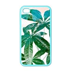Pachira Leaves  Apple Iphone 4 Case (color)