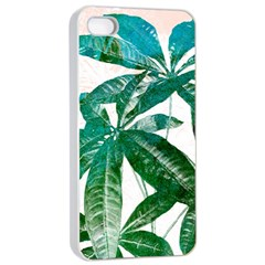 Pachira Leaves  Apple Iphone 4/4s Seamless Case (white)