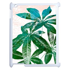 Pachira Leaves  Apple Ipad 2 Case (white) by DanaeStudio