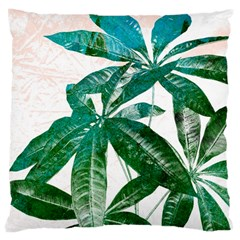 Pachira Leaves  Large Cushion Case (two Sides)