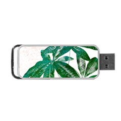 Pachira Leaves  Portable Usb Flash (two Sides) by DanaeStudio