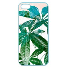 Pachira Leaves  Apple Seamless Iphone 5 Case (color) by DanaeStudio