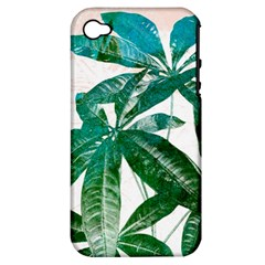 Pachira Leaves  Apple Iphone 4/4s Hardshell Case (pc+silicone)