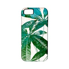 Pachira Leaves  Apple Iphone 5 Classic Hardshell Case (pc+silicone)