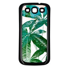 Pachira Leaves  Samsung Galaxy S3 Back Case (black)