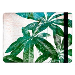 Pachira Leaves  Samsung Galaxy Tab Pro 12 2  Flip Case by DanaeStudio