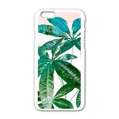 Pachira Leaves  Apple Iphone 6/6s White Enamel Case by DanaeStudio