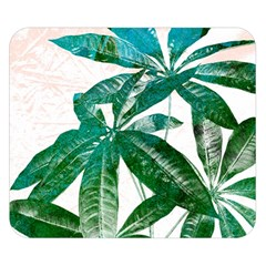 Pachira Leaves  Double Sided Flano Blanket (small)  by DanaeStudio