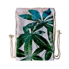 Pachira Leaves  Drawstring Bag (small) by DanaeStudio