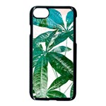 Pachira Leaves  Apple iPhone 7 Seamless Case (Black) Front