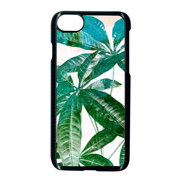 Pachira Leaves  Apple iPhone 7 Seamless Case (Black)