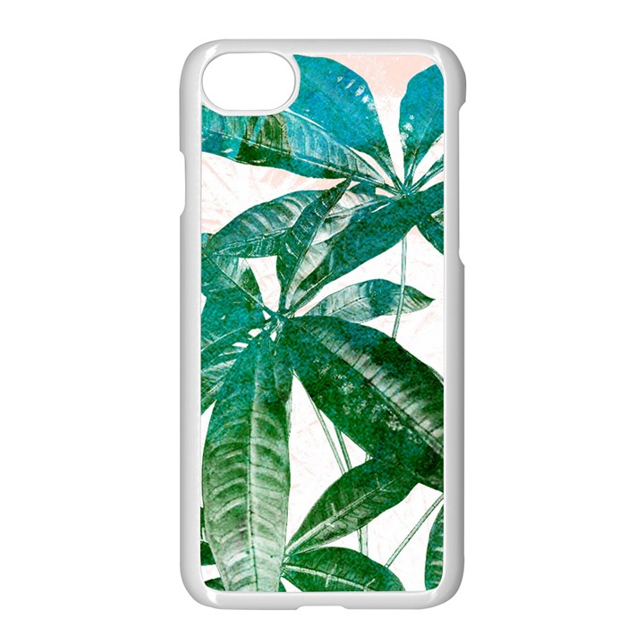 Pachira Leaves  Apple iPhone 7 Seamless Case (White)