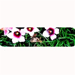Pink Flowers Over A Green Grass Large Bar Mats by DanaeStudio