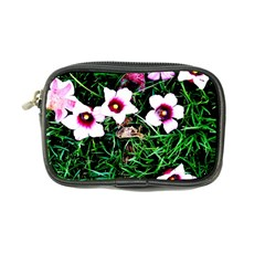 Pink Flowers Over A Green Grass Coin Purse by DanaeStudio
