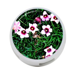 Pink Flowers Over A Green Grass 4 Port Usb Hub (one Side) by DanaeStudio