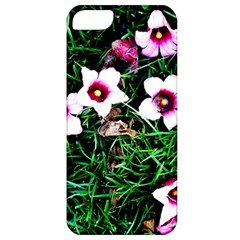 Pink Flowers Over A Green Grass Apple Iphone 5 Classic Hardshell Case