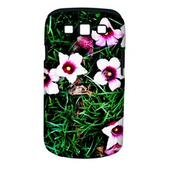 Pink Flowers Over A Green Grass Samsung Galaxy S Iii Classic Hardshell Case (pc+silicone)