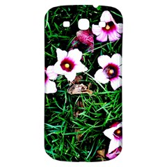 Pink Flowers Over A Green Grass Samsung Galaxy S3 S Iii Classic Hardshell Back Case