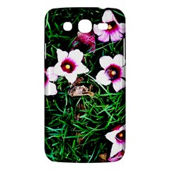 Pink Flowers Over A Green Grass Samsung Galaxy Mega 5 8 I9152 Hardshell Case  by DanaeStudio