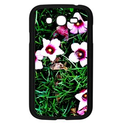 Pink Flowers Over A Green Grass Samsung Galaxy Grand Duos I9082 Case (black)