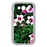 Pink Flowers Over A Green Grass Samsung Galaxy Grand DUOS I9082 Case (White) Front