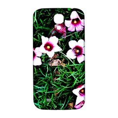 Pink Flowers Over A Green Grass Samsung Galaxy S4 I9500/i9505  Hardshell Back Case