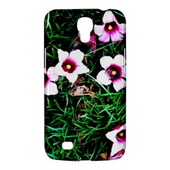 Pink Flowers Over A Green Grass Samsung Galaxy Mega 6 3  I9200 Hardshell Case by DanaeStudio