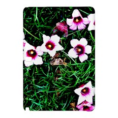 Pink Flowers Over A Green Grass Samsung Galaxy Tab Pro 10 1 Hardshell Case