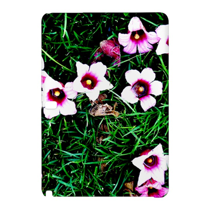 Pink Flowers Over A Green Grass Samsung Galaxy Tab Pro 10.1 Hardshell Case