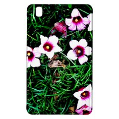 Pink Flowers Over A Green Grass Samsung Galaxy Tab Pro 8 4 Hardshell Case by DanaeStudio