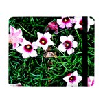Pink Flowers Over A Green Grass Samsung Galaxy Tab Pro 8.4  Flip Case Front