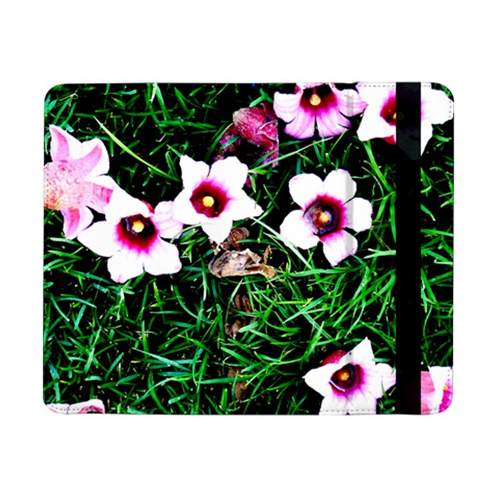 Pink Flowers Over A Green Grass Samsung Galaxy Tab Pro 8.4  Flip Case