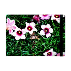Pink Flowers Over A Green Grass Ipad Mini 2 Flip Cases