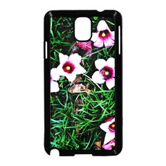 Pink Flowers Over A Green Grass Samsung Galaxy Note 3 Neo Hardshell Case (black)