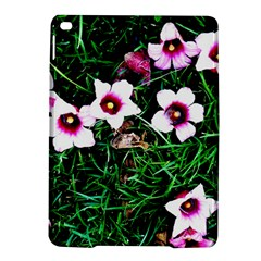 Pink Flowers Over A Green Grass Ipad Air 2 Hardshell Cases