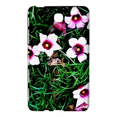 Pink Flowers Over A Green Grass Samsung Galaxy Tab 4 (8 ) Hardshell Case