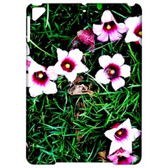 Pink Flowers Over A Green Grass Apple Ipad Pro 9 7   Hardshell Case by DanaeStudio