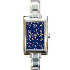 Playful Confetti Rectangle Italian Charm Watch by DanaeStudio
