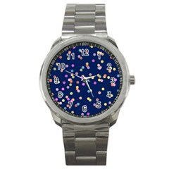 Playful Confetti Sport Metal Watch by DanaeStudio
