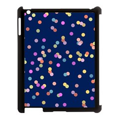 Playful Confetti Apple Ipad 3/4 Case (black) by DanaeStudio