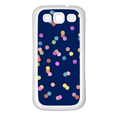 Playful Confetti Samsung Galaxy S3 Back Case (white)