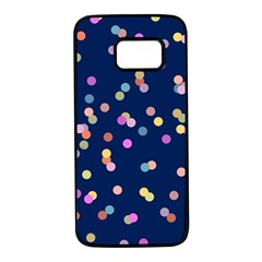 Playful Confetti Samsung Galaxy S7 Black Seamless Case