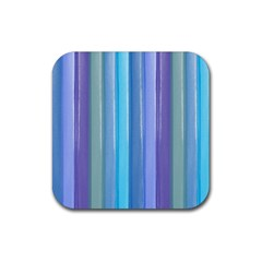 Provence Fields Lavender Pattern Rubber Square Coaster (4 Pack)