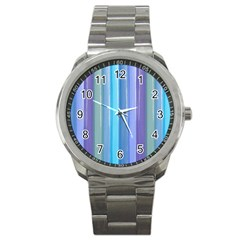 Provence Fields Lavender Pattern Sport Metal Watch by DanaeStudio