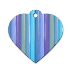 Provence Fields Lavender Pattern Dog Tag Heart (one Side)
