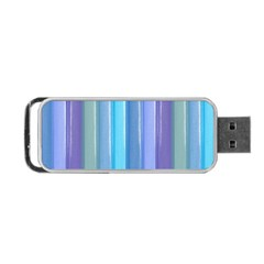 Provence Fields Lavender Pattern Portable Usb Flash (two Sides) by DanaeStudio