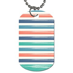Summer Mood Striped Pattern Dog Tag (one Side)